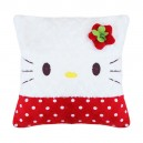 Bantal Kotak Polkadot Hello Kitty Merah
